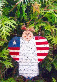 Primitive Angel Ornament CONSTITUTIONAL GUARDIAN by FolkArtWorks