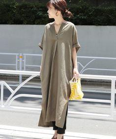 Pin on ワンピース Modest Fashion Hijab, Skirt Fashion, Fashion Outfits, Dress Over Pants, Long Shirt Dress, Japan Fashion, Elegant Outfit, Minimal Fashion, Sustainable Clothing