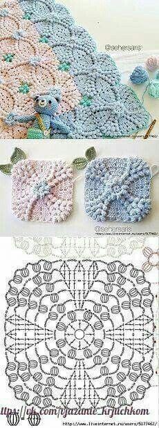 Transcendent Crochet a Solid Granny Square Ideas. Inconceivable Crochet a Solid Granny Square Ideas. Crochet Motifs, Crochet Blocks, Crochet Diagram, Crochet Chart, Crochet Doilies, Crochet Flowers, Free Crochet, Crochet Baby, Crochet Pillow