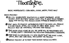A Quick Recipe for Making Moonshine