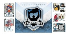 2015-16 Upper Deck The Cup Hockey is coming! More great hits than ever! 2 auto patch cards in every tin!  Shop http://ift.tt/1kiZmnP today!  #NHL #Upperdeck #hockey #thecup #autographed #memorabilia #ovechkin #crosby #mattmurray #careyprice #thehobby #sccbreakroom