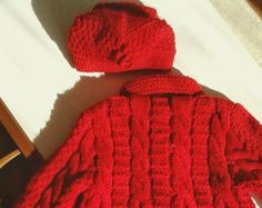 Ready to ship/girl coats/knitting by NORTHsKNITTINGs on Etsy