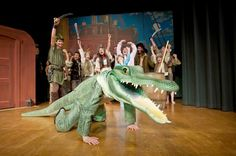 The children are cheer the arrival of the crocodile (Tim Ihle), the overthrow of the pirates and the demise of Captain Hook.