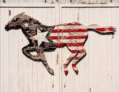 """Running Horse"" rustic wall art (Jillian Audrey Designs)"