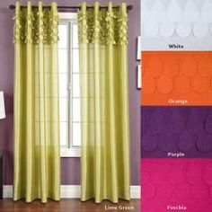 Betta Grommet 84-inch Curtain Panel - Love these! Thinking the orange would be perfect for the living room/sunroom.