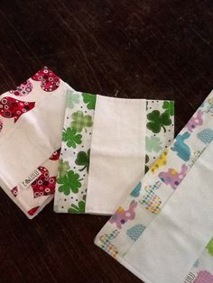 Holiday Burp Cloths Easter St. Patricks Day by EandLuLu on Etsy, $15.00