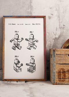 Free Printable-lego patent wall art
