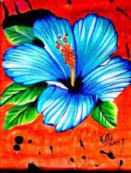 Resultado de imagen de dibujos a lapiz de flores hawaianas