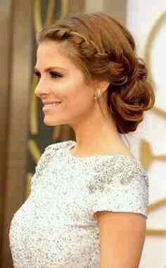 Homecoming Hair #braid #updo #medium #length #hair More