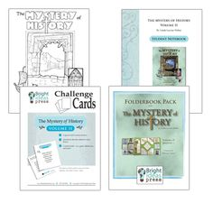 The Mystery of History Volume II (to the Middle Ages) Super Supplemental Collection by Bright Ideas Press - Coloring Pages, Challenge Cards, Notebooking Pages, and Folderbooks