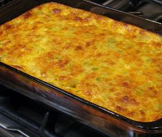 One of my favorite breakfast or brunch egg dishes is this Green Chile Egg Souffle. I often serve this for Christmas or New Year's Day brunch with baked french toast and fresh fruit. This rec. Enchiladas, Burritos, Brunch Egg Dishes, Egg Souffle, Chili Relleno Casserole, Hatch Chili, Souffle Recipes, Chile Relleno, Gratin Dish