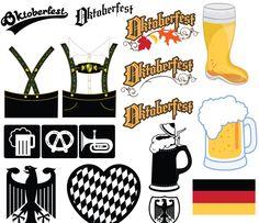 Oktoberfest Clipart - free use, multi-format (including svg) German Oktoberfest, Oktoberfest Beer, Oktoberfest Invitation, Octoberfest Party, German Costume, Printable Invitation Templates, Printables, Vector Free, Clip Art