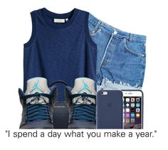 """""""JORDANS"""" by theuniquedasia ❤ liked on Polyvore featuring Levi's, H&M, Michael Kors and Retrò"""