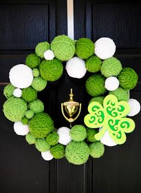 just call us Heavan.: st. patricks day yarn wreath.