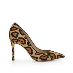 Hazel Pointed Toe Heel by Sam Edelman - Nude Leopard Brahma
