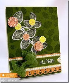 Floral card using new Waltzingmouse Stamps' images.