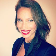 Katey Denno puts Christy Turlington in red lips for Rock The Lips!