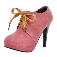 Leatherette Stiletto Heel Ankle Boots With Lace-up Stilettos, Stiletto Heels, Chichester, Pink Ankle Boots, Cheap Womens Shoes, Applique Dress, Boots For Sale, Boots Online, Cheap Fashion