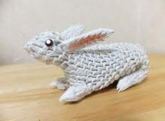3d origami bunny | asformanek.com