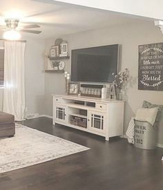 ✔ 78 rustic farmhouse living room design and decor ideas for your home 46 Related Living Room Tv, Living Room Remodel, Apartment Living, Home And Living, Living Room Furniture, Modern Living, Small Living, Modern Furniture, Rustic Furniture