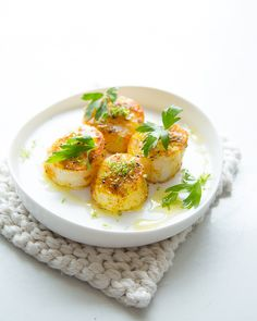 Curry Dusted Scallops with Lime Oil - #sweetpaul