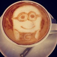 Amazing whipped cream drawing!