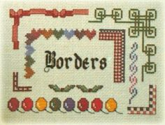 13 Alphabets 9 Borders & 6 Sets of Numbers - Cross Stitch Patterns... just what I was looking for