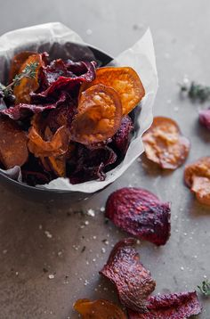 Tired of serving up side salads and roast veg? These veggie crisps make a great partner to any meal and can also double up as a healthy snack. More please.