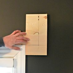 make a template (for placement of curtain rod brackets) to make hanging curtains so easy