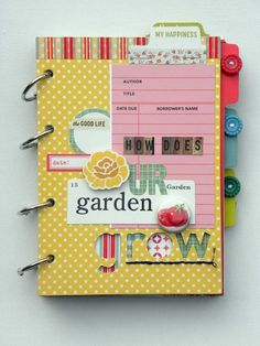 Guest designer Ashley Horton shared this amazing mini-book with us