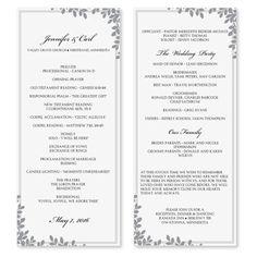 wedding program template download by diyweddingtemplates on etsy
