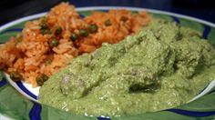 Green mole (mole verde) with pork recipe : SBS Food Rice And Corn Recipe, Vegetable Rice Recipe, Green Vegetable Recipes, Zone Recipes, Cooking Recipes, Healthy Recipes, Weekly Recipes, Greek Recipes, Mexican Food Recipes