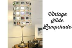 Vintage slide lampshade - Lovely Etc.  Wondering if you could use old negatives of pictures...  ???