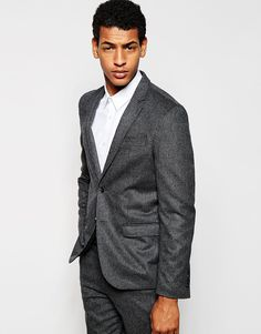 Selected Homme Wool Check Suit Jacket in Skinny Fit