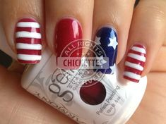 This will be my 4th of July nail design this year! So cute!!