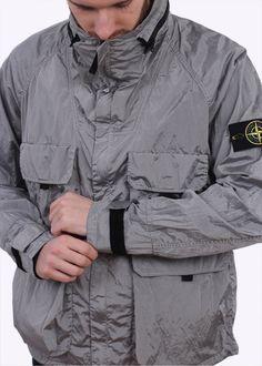 Stone Island Nylon Metal Watro Jacket - Pearl Stone Island Shadow Project, Football Casuals, Italian Outfits, Snow Outfit, Field Jacket, Light Jacket, Sportswear, Street Wear, Menswear