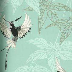 Osborne & Little Grove Garden  A pretty eau de nil backdrop covered in black and silver hummingbirds and foliage. A stunning option for a bathroom; there's even a matching fabric if you want to go all out.  Osborne & Little Grove Garden Wallpaper, £54 at John Lewis