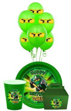 Lego Ninjago  Birthday Party Package, Ninjago Party, Ninjago Birthday Supplies, Ninjago Stickers Printable. $6.99, via Etsy.