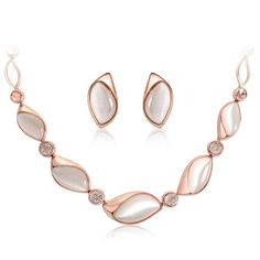 Only a few more left in stock! Rose Gold Creamy Opal Earrings Necklace Set with Rhinestone Faux Cat Eye's Stone. Shop Now!  http://edexstore.com/products/rose-gold-creamy-opal-earrings-necklace-set-with-rhinestone-faux-cat-eyes-stone?utm_campaign=crowdfire&utm_content=crowdfire&utm_medium=social&utm_source=pinterest ##beautiful #love #style #instalike #instadaily #instalove #instagood #girl #happy #follow #pretty #smile #instafollow #dazzle #hot #prettygirls