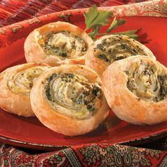 Artichoke and Spinach Swirls