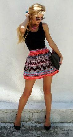 Tribal Skirt & Sunglasses