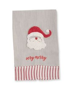 Mud Pie  Santa French Knot Towel