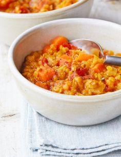 Chunky Red Lentil Stew from Vegan Pressure Cooking by JL Fields. PHOTO: Kate Lewis