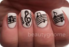 Artsy Wednesday: Music Nail Art!cute quotes happiness, wallpaper ...