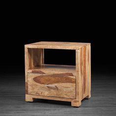 Table de chevet Bella en bois de rose