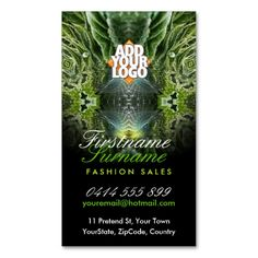 Green Eco Fantasy Art Business Cards. This great business card design is available for customization. All text style, colors, sizes can be modified to fit your needs. Just click the image to learn more!