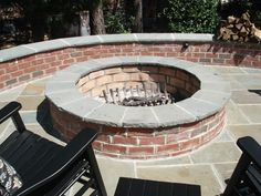 Brick Fire Pit Fire Pit Turftenders Landscape Services Raleigh, NC