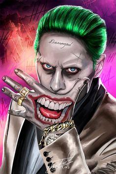 Tango of Evil (Harley Quinn and The Joker) by temukense on DeviantArt Joker Batman, Joker Art, Gotham Joker, Batman Comic Art, Harley Quinn Drawing, Joker Und Harley Quinn, Joker Images, Joker Pics, Joker Hd Wallpaper