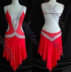 885U Professional Ballroom Lady Latin Salsa ChaCha Dance Ice Skating Dress US 12 | eBay