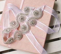 Wedding Bridal Bling Crystal Silver Ribbon Headband Hair Accessories Tiara